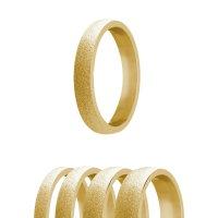 Ring - Edelstahl - 4 Breiten - Diamant - Gold
