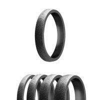 Ring - Edelstahl - 4 Breiten - Diamant - Schwarz