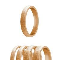 Ring - Edelstahl - 4 Breiten - Diamant - Rosegold