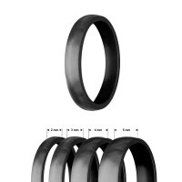 Ring - Edelstahl - 4 Breiten - Matt - Schwarz