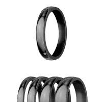 Ring - Edelstahl - 4 Breiten - Glänzend - Schwarz