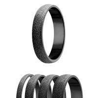 Ring - 925 Silber - 4 Breiten - Diamant - Schwarz