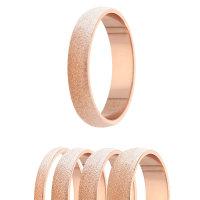 Ring - 925 Silber - 4 Breiten - Diamant - Rosegold
