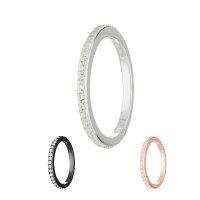 Ring - 925 Silber - Kristalle