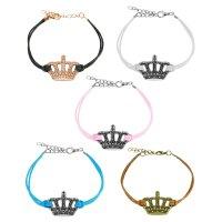 Armband - Leder - Krone