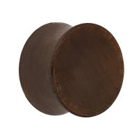 Holz Ohr Plug - Dunkelbraun