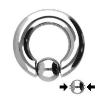 Piercing Klemmring - Stahl - Silber - Spring Ball Clip In