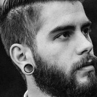 Silikon Ohr Flesh Tunnel | Schwarz | Dünn | Double Flared
