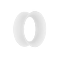 Flesh Tunnel - Silikon - Weiß - dünn