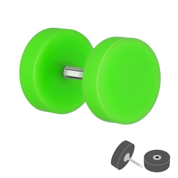 Piercing Fake Plug - Kunststoff - Grün