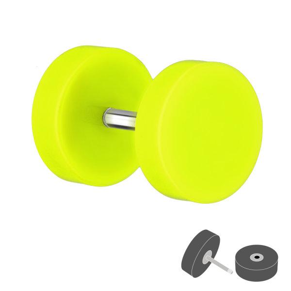 Piercing Fake Plug - Kunststoff - Gelb