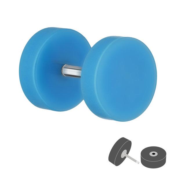 Piercing Fake Plug - Kunststoff - Hellblau