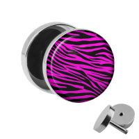 Motiv Fake Plug - Zebra - Pink