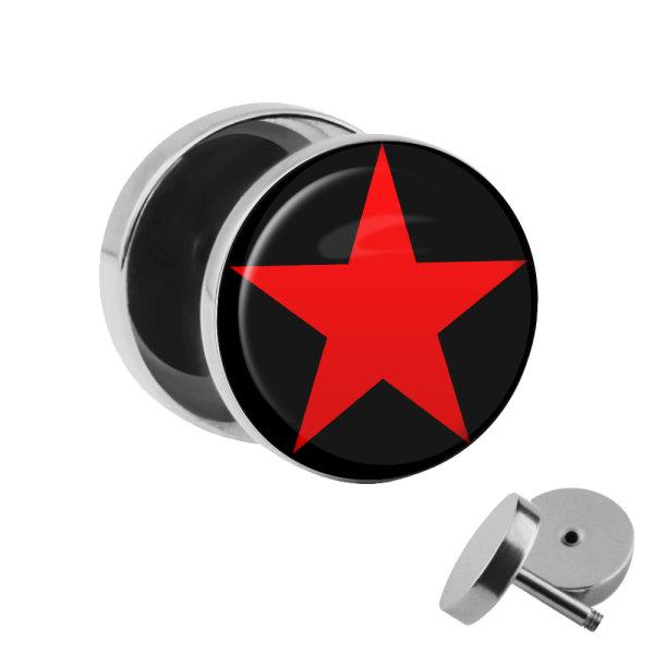 Motiv Fake Plug - Stern - Rot