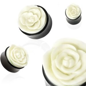 Horn Ohr Plug - Rose - Weiß