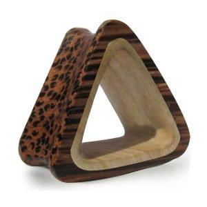 Holz Ohr Plug - Dreieck - Zweifarbig