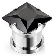 Kristall Plug - Eckig - Schwarz