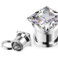 Kristall Plug - Eckig - Klar