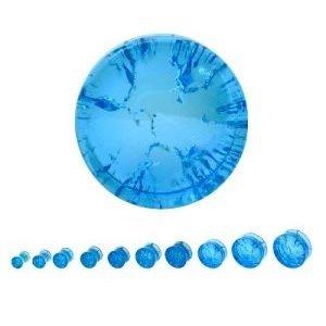 Glas Plug - Riss - Blau