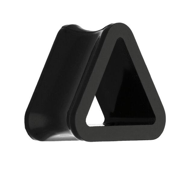 Flesh Tunnel - Kunststoff - Dreieck - Schwarz
