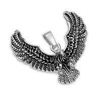 Silberner Adler Ketten-Anhänger aus Edelstahl