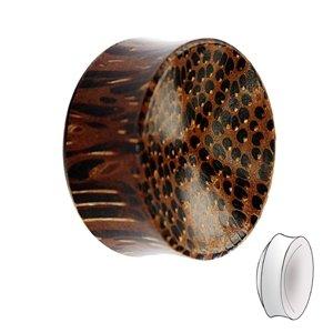 Holz Plug - Palmen Holz - Dunkel