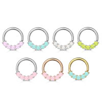 Continuous Piercing Ring mit Opalith Kristallen