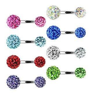Bauchnabelpiercing - Kristall