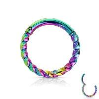 Gedrehtes Segmentring-Clicker Piercing in 5 Farben