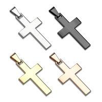 Kreuz Ketten-Anhänger aus Edelstahl