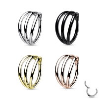 Titan Segmentring-Clicker Piercing mit 3 Ringen