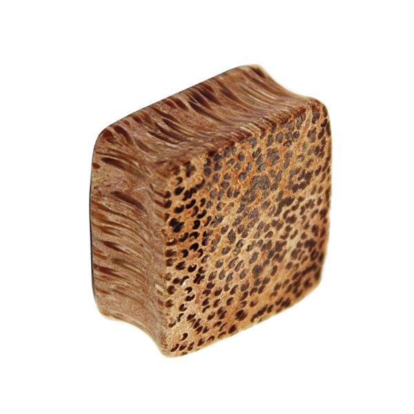 Holz Plug - Viereck - Palmen Holz - Hell