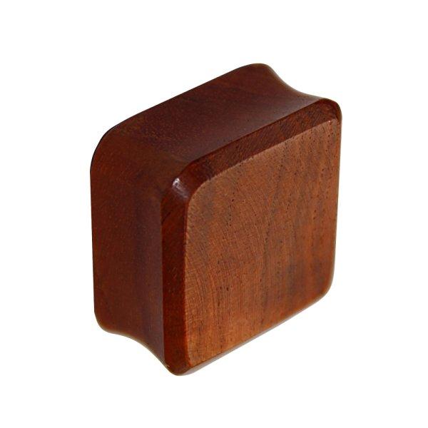Holz Plug - Viereck - Rotholz