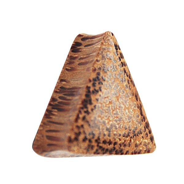 Holz Plug - Dreieck - Palmen Holz - Hell