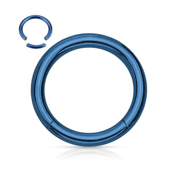 Segmentring Piercing - Blau