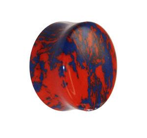Stein Plug - Marmor - Orange-Blau