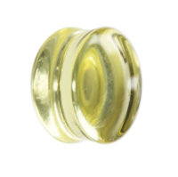 Glas Plug - Gelb