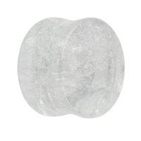 Glas Plug - Marmor - Weiß