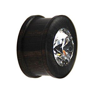 Holz Plug - Kristall - Schwarz