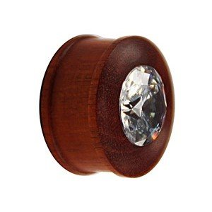 Holz Plug - Kristall - Braun