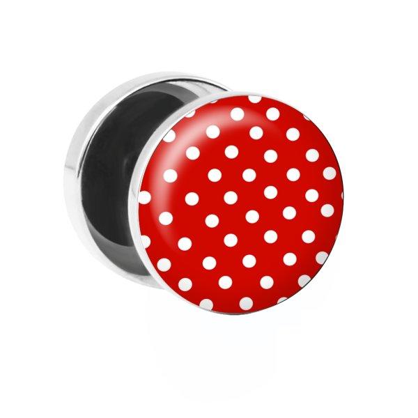 Motiv Fake Plug - Polka Dots - Rot