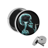 Motiv Fake Plug - Röntgenbild - Schädel
