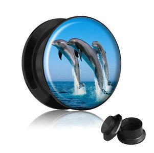 Picture Plug - Gewinde - Delphin