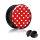 Picture Plug - Gewinde - Polka Dots - Rot