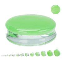 Glas Plug - Geteilt - Grün