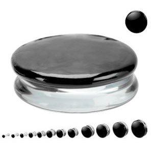 Glas Plug - Geteilt - Schwarz