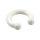 Piercing Hufeisen - Silikon - Weiß