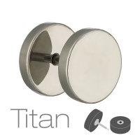 Piercing Fake Plug - Titan - Silber
