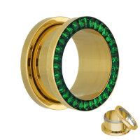 Flesh Tunnel - Gold - Kristall - Grün - Schutzschicht