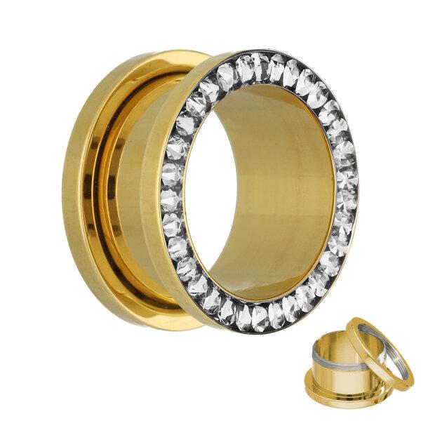 Flesh Tunnel - Gold - Kristall - Klar - Schutzschicht